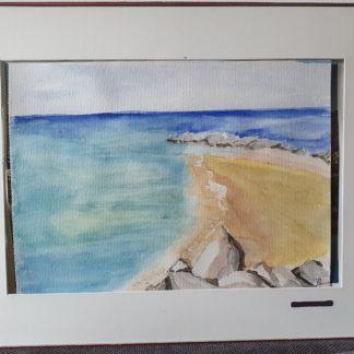 La Galerie de Jo - Tableau Aquarelle - Plage de La Ciotat