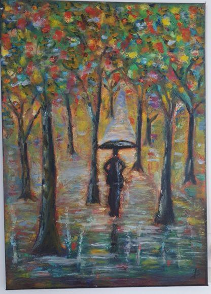 La Galerie de Jo - Tableau Femme d'automne réalisé par Jo Bourget